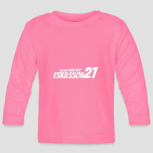 Eskilsson 27 sticker motive white - Långärmad T-shirt baby