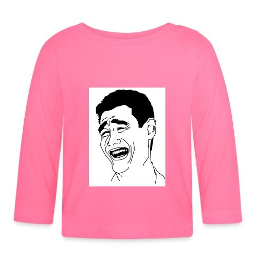 Yao Ming Face Bitch Please - Koszulka niemowlęca z długim rękawem