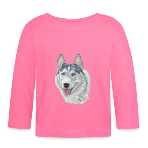 siberian husky_blueeyes - Langærmet babyshirt