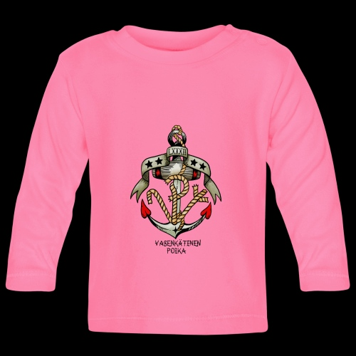 VP Ankkuri Väreillä - Vauvan pitkähihainen paita