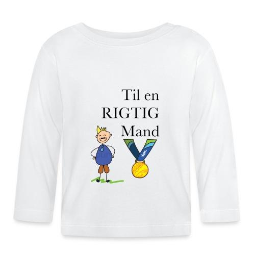 En rigtig mand - Langærmet babyshirt