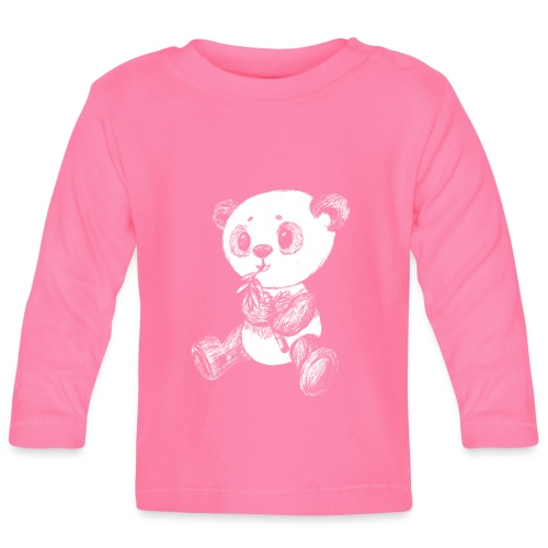 Panda bear white scribblesirii - Baby Long Sleeve T-Shirt