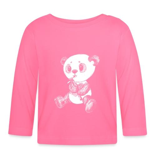 Panda Karhu valkoinen scribblesirii - Vauvan pitkähihainen paita