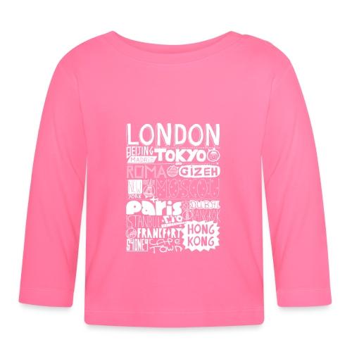 Villes du monde - blanc - T-shirt manches longues Bébé