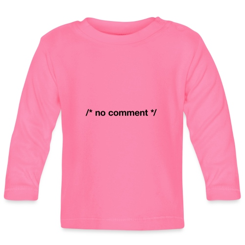 No Comment (CPP) - Baby Long Sleeve T-Shirt