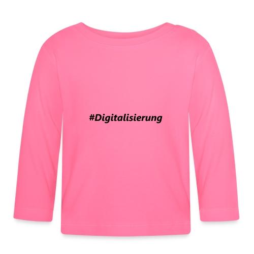 #Digitalisierung black - Baby Langarmshirt