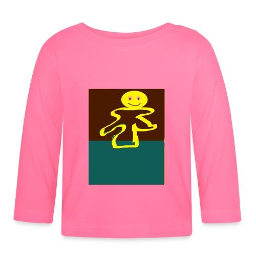 Glad mand - Langærmet babyshirt