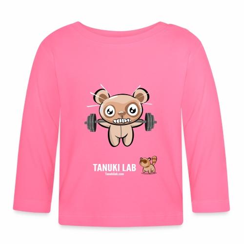 Oso entrenando - Camiseta manga larga bebé