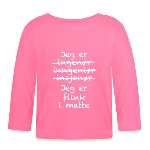 Flink i matte - Langarmet baby-T-skjorte