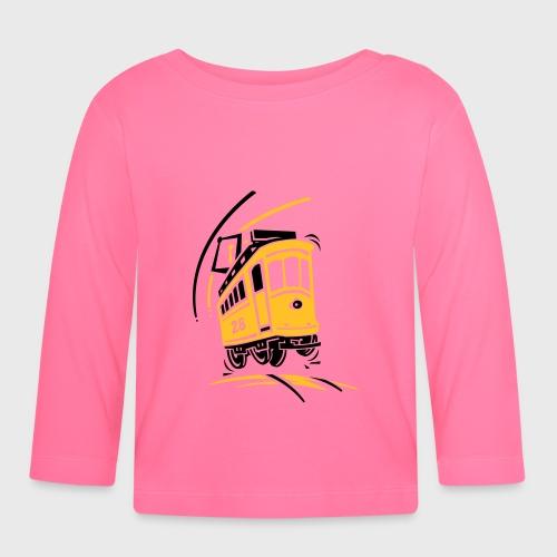 Tramway 28 cartoon Lisbonne - T-shirt manches longues Bébé