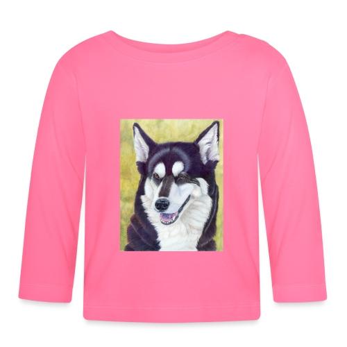 Siberian husky - Langærmet babyshirt