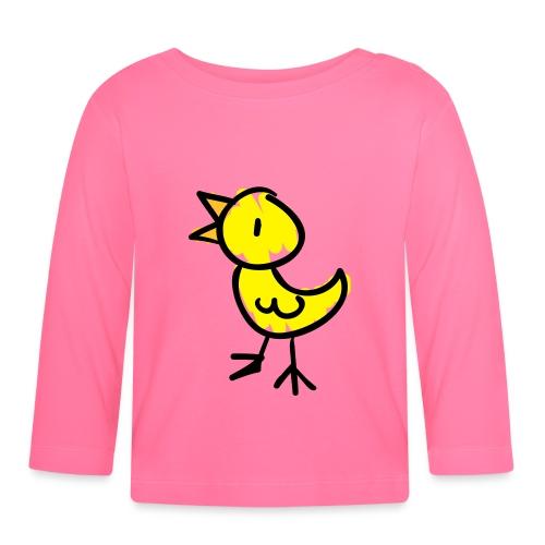 Bird Line Drawing Pixellamb - Baby Langarmshirt