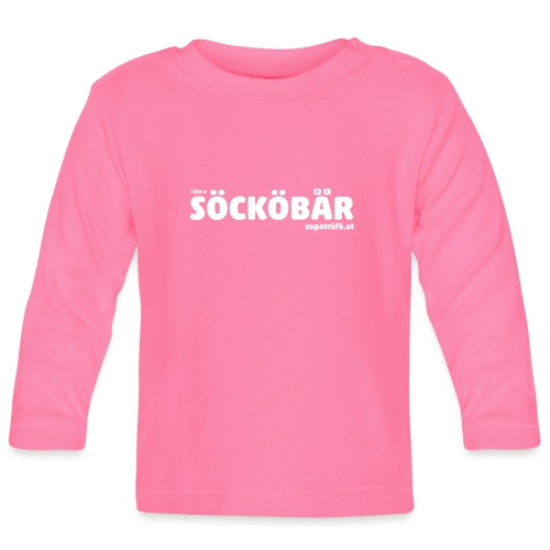 supatrüfö söcköbär - Baby Langarmshirt