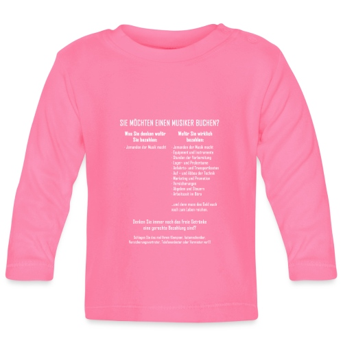 Musiker buchen - Baby Langarmshirt
