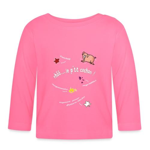 Rhoo le ptit cochon ! (version pour fond sombre) - T-shirt manches longues Bébé