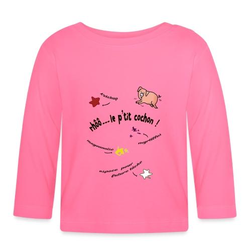 Rhoo le ptit cochon ! (version pour fond blanc) - T-shirt manches longues Bébé