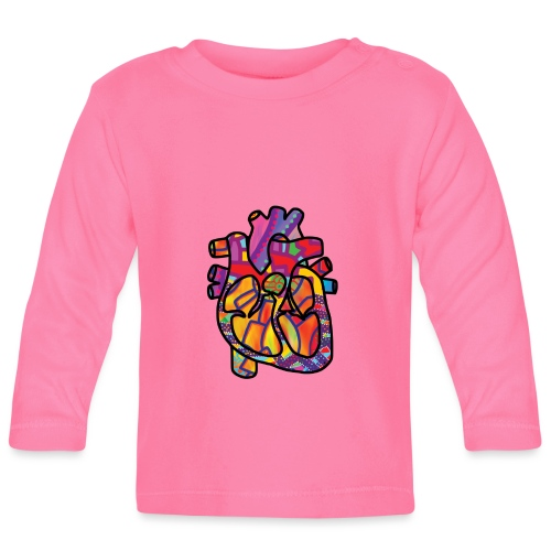 Real Energetic Heart - Baby Long Sleeve T-Shirt