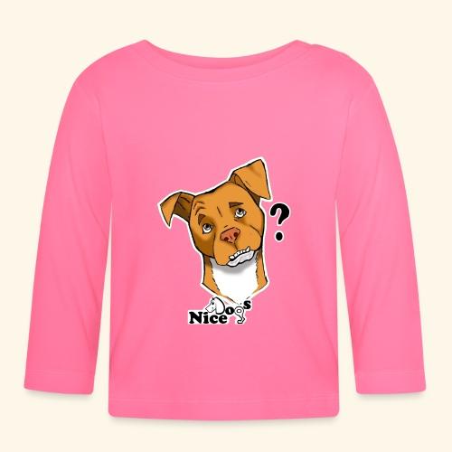 Nice Dogs pitbull 2 - Maglietta a manica lunga per bambini