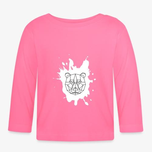 Bär Geometrisch splash - Baby Langarmshirt