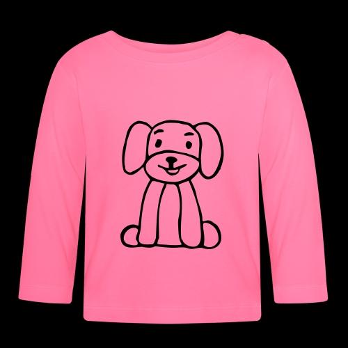 hund sitzt - Baby Langarmshirt
