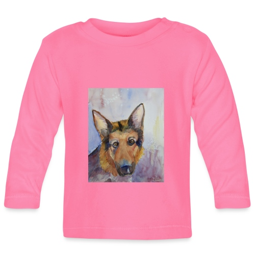 german shepherd wc - Langærmet babyshirt