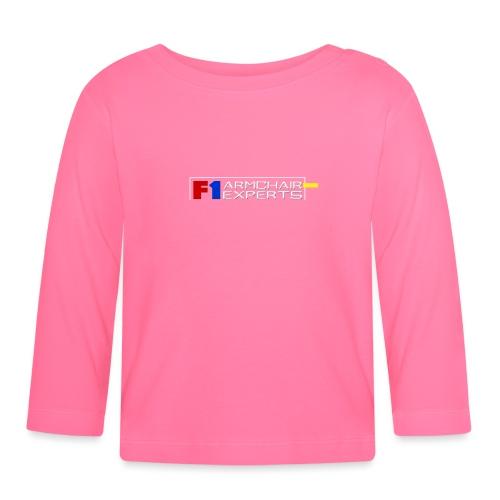 F1 Armchair Expert Official Logo WHT - Baby Long Sleeve T-Shirt