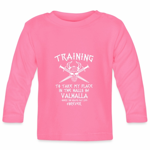 training for Valhalla - Camiseta manga larga bebé