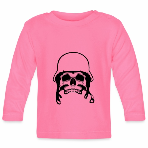 Soldier Helmet Skull 1c - Baby Long Sleeve T-Shirt