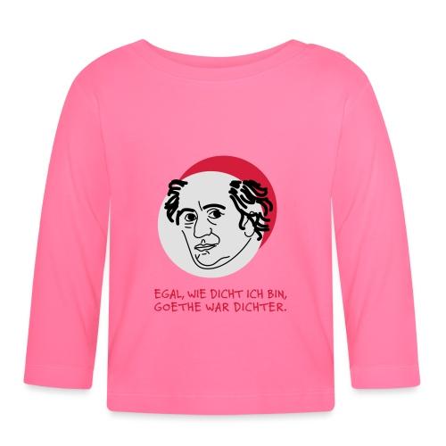 Goethe war Dichter - Baby Langarmshirt