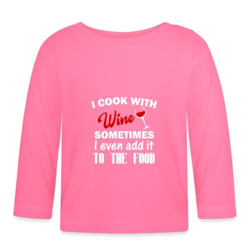 i cook - Langarmet baby-T-skjorte