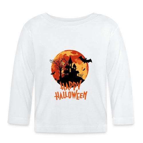 Bloodmoon Haunted House Halloween Design - Baby Langarmshirt