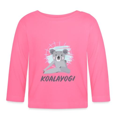 Koalayogi - Langarmet baby-T-skjorte