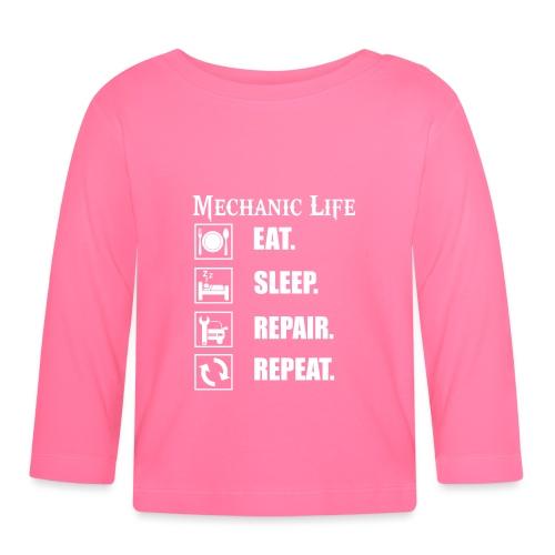 Das Leben als Mechaniker ist hart! Witziges Design - Baby Langarmshirt