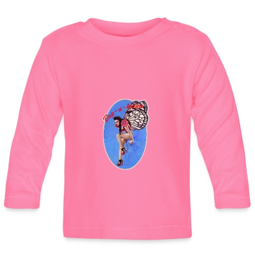 Vintage Rockabilly Butterfly Pin-up Design - Baby Long Sleeve T-Shirt