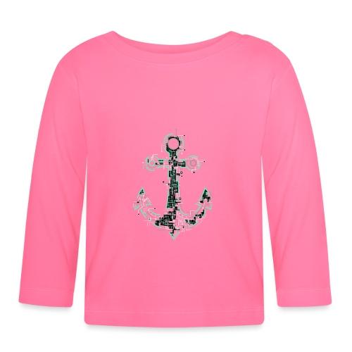 Cyber Anker Tshirt ✅ Elektro Anker Tshirt - Baby Langarmshirt