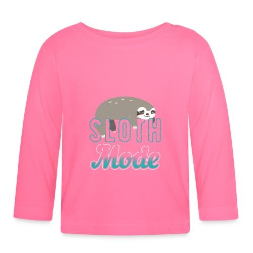 Sloth Mode Tired AF Running Shirt - Baby Langarmshirt