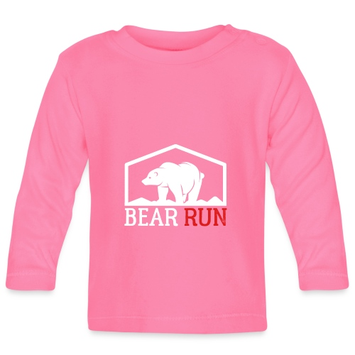 Bear Run Funny Black bear Running - Baby Langarmshirt