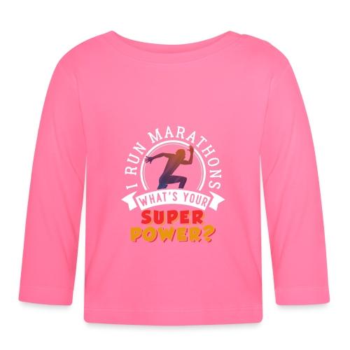 Running Marathons Super Power - Baby Langarmshirt