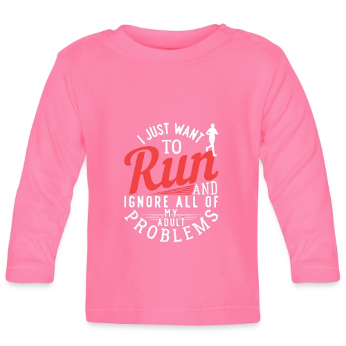 I Just Want To Run | Marathon - Baby Langarmshirt