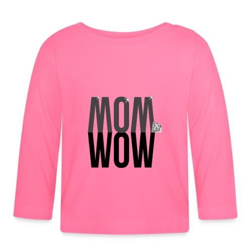 MOM WOW dunkel - Baby Langarmshirt
