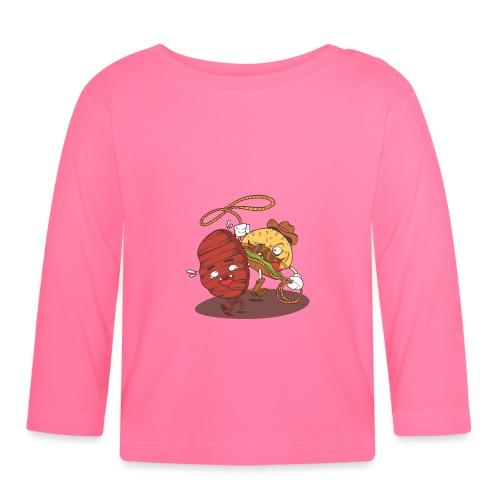 Burger Cowboy fängt Pattie mit Lasso ein - Baby Langarmshirt