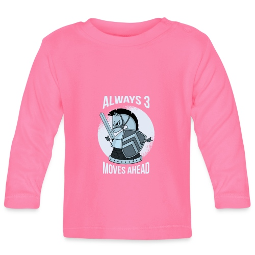 Alway 3 Moves Ahead Schach Spiel Springer Pferd - Baby Langarmshirt