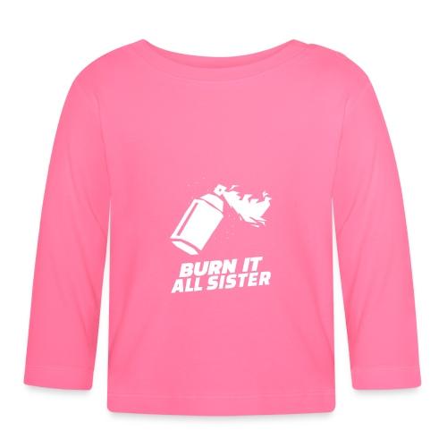 feminist themed t shirt design maker featuring - Camiseta manga larga bebé