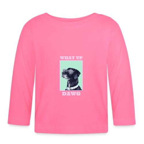 dog whatsup dogg - Koszulka niemowlęca z długim rękawem