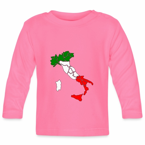 Karte von Italien - Baby Langarmshirt