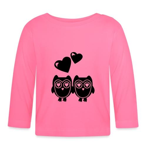 verliebte Eulen - Baby Langarmshirt