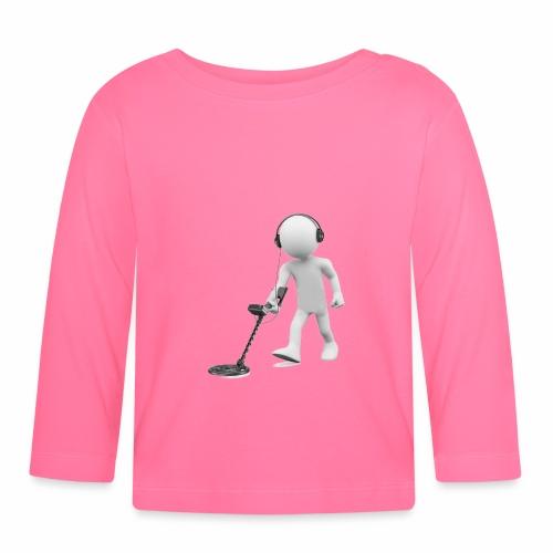 Erdferkel Hobby Shirt fürs Sondeln - Baby Langarmshirt