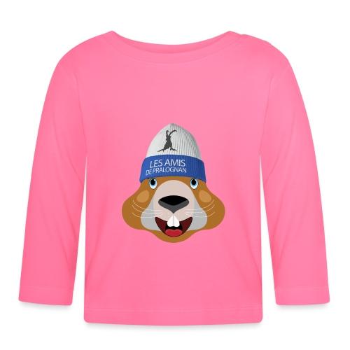 tete marmotte bonnet - T-shirt manches longues Bébé
