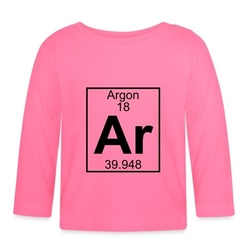 Argon (Ar) (element 18) - Baby Long Sleeve T-Shirt
