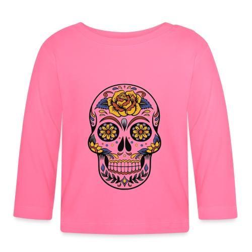 skull mexiko mexico - Baby Langarmshirt